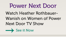 Professional business speaker Eau Claire - Heather Rothbauer-Wanish on Power Next Door TV Show. Professional resume writer.